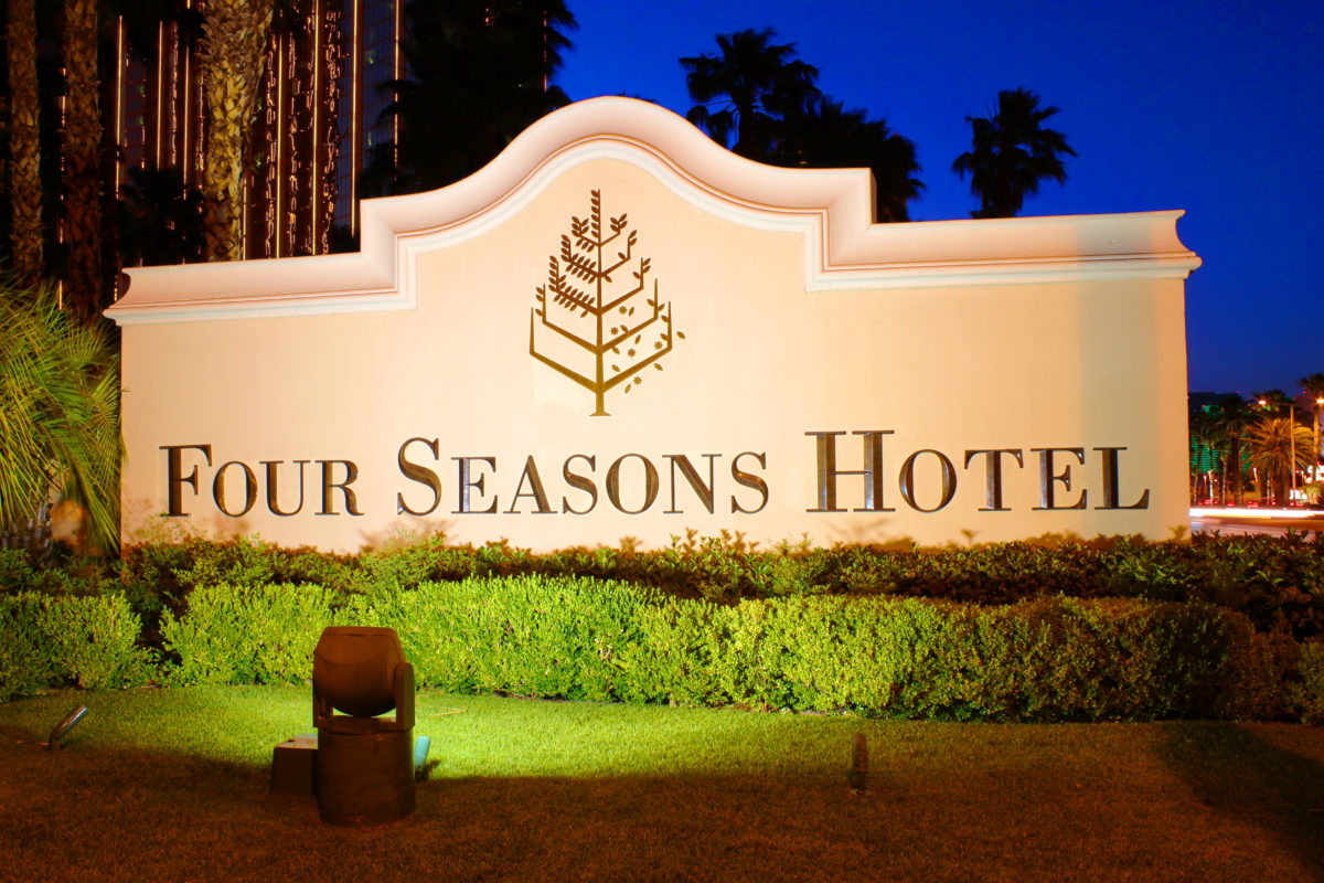 The Four Seasons Sign in Las Vegas