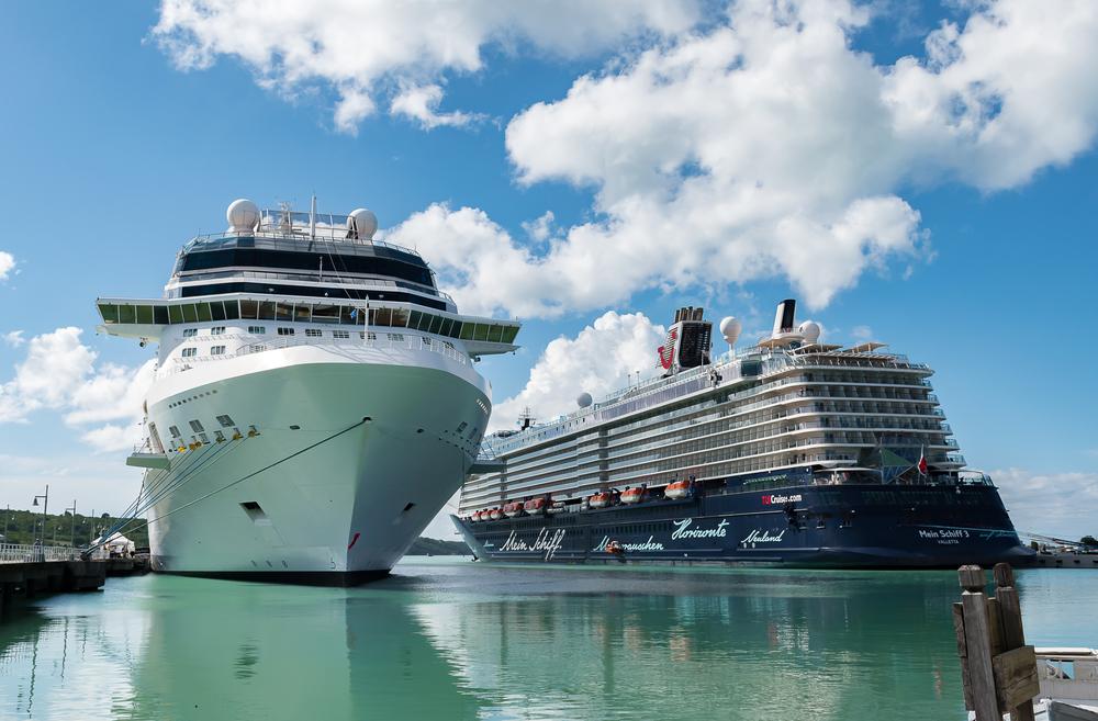 Cruise Ships moored in St. John's, Antigua